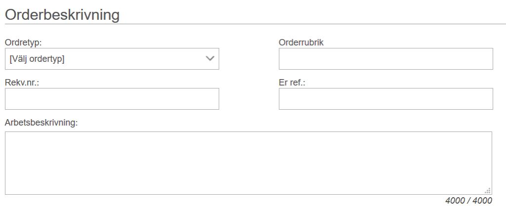 Ordertyp i Minuba