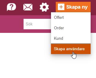 Bild som visar hur du skapar en användare i Minuba